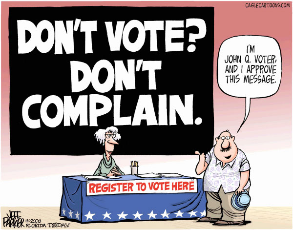 """duty to vote Our """"betters"""" in government know better, and we should never have elected a morally repugnant rube who might challenge them that was one of the messages we."""