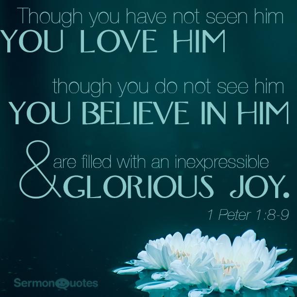I Peter 1 8-9