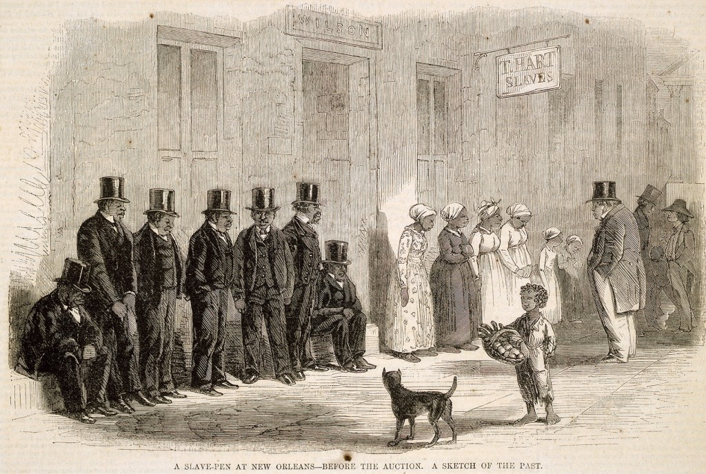 A Slave-Pen at New Orleans Before the Auction